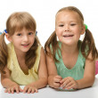 Two little girls - best friends — Stock Photo