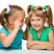 Two little girls are chatting — Stock Photo #6587999
