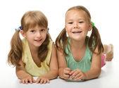 Two little girls - best friends — Stock Photo