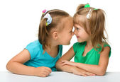 Two little girls are having fun — Stock Photo