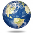 Planet earth on white - America - Stok fotoraf