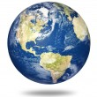 Stock Photo: Planet earth on white - America