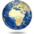 Planet earth on white - Africa and European - Stock Photo