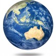 Stock Photo: Planet earth on white - Australian view