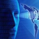 Global communication /internet / data transmission or cyber-busi — Stock Photo