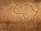 Old style Africa map — Stock Photo