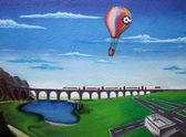 Un graffiti de puente — Foto de Stock