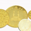 Gold dinar and siver dirham — Stock Photo #6171624
