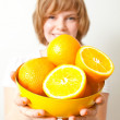 Woman with oranges — Stock Photo #5914795