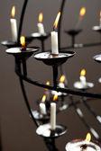 Kostelní svíčky — Stock fotografie