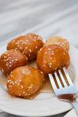 Loukoumades, a greek dessert — Stock Photo