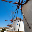 Windmills in Mykonos, Greece — Stock Photo