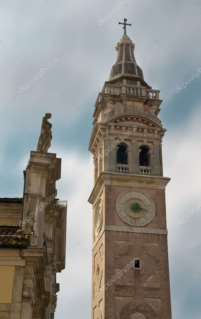 The bell tower and the sky. Architectural motif of Venice. — Stock Photo #5827345