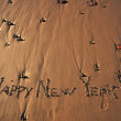"Stock Photo: ""Happy New Year"" message on beach"