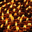 Stock Photo: Candles in Tibetmonastery, Nepal.