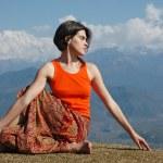 Yoga outdoors — Stock Photo #5913173