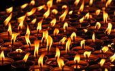 Candles in the Tibetan monastery, Nepal. — Stock Photo