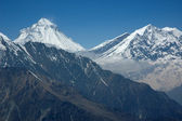 Dhaulagiri - majestic mountain in Himalaya. 8,167 metres. — Stock Photo