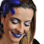 Beautiful woman with perfect make up — Stock Photo