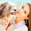 Girl and dog — Stock Photo #5432504