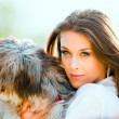 Woman and dog — Stock Photo #5448131