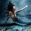 Mermaid at sea - Stock Photo