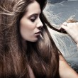 Long hair — Stock Photo