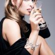 Martini and woman — Stock Photo