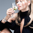 Martini and woman — Stock Photo