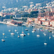 Yacht boats in french riviera — Stock Photo
