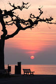 Sunset at garda lake — Stock Photo