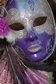 Purple and silver venice carnival mask — Stock Photo