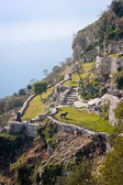 Ancient hillside garden of eze village — Stock Photo