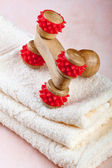 Chinese wooden massage tool — Stock Photo