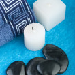 Blue spa setting — Stock Photo