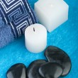 Blue spa setting - Stock Photo