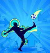 Giocatore di calcio — Vettoriale Stock