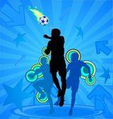 Soccer players — Stockvektor