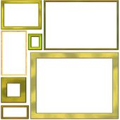 Golden frames — Stock Photo