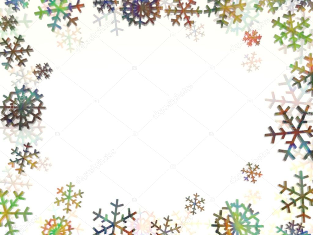 ppt 素材 雪花