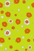 Seamless orange & white flowers — Stock Photo