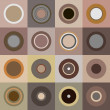 Stock Photo: Retro brown circles