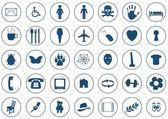 Iconos de ronda — Foto de Stock