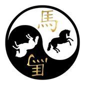 Jahr des pferdes — Stockfoto