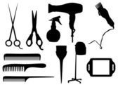 Hairdressing objects — Stock Photo