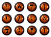 Tool Buttons — Stock Photo