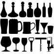 Alcohol objects — 图库照片
