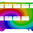 Rainbow Bus - Stock Photo