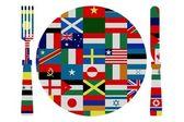 Rätter från hela världen — Stockfoto