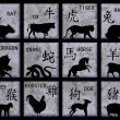 Chinese Zodiac symbols — Stock Photo